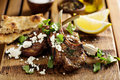 Lamb chops with herbs and feta Royalty Free Stock Photo