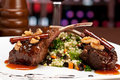 Lamb chops in restaurant Royalty Free Stock Photography