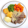 Lamb dinner from above Stock Photography