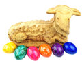 Lamb easter eggs holiday Stock Image