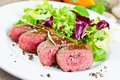 Lamb fillet with fresh salad Royalty Free Stock Photo