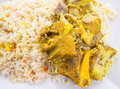 Lamb kabsa vi rice a popular traditional middle eastern cuisine Royalty Free Stock Photography