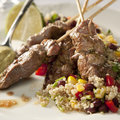 Lamb kebab Stock Images