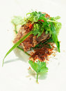 Lamb meat cooked in asian style Royalty Free Stock Photography