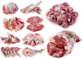 Lamb meat in front of white background Royalty Free Stock Photos