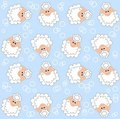 Lamb pattern seamless Stock Photography