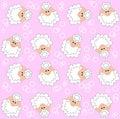 Lamb pattern seamless