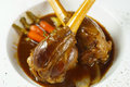 Lamb shank delicious for the supper Stock Images