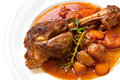 Lamb Shank Dinner Royalty Free Stock Images