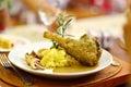 Lamb Shank with Mashed Potato Stock Photography