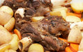 Lamb shanks cooked with potatoes