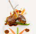 Lamb steak with black pepper sauce Stock Images