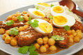Lamb Tagine with Eggs Royalty Free Stock Photos