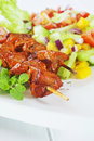 Lamb tikka with salad tasty indian food Royalty Free Stock Photography