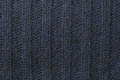 Lamb wool jumper close up of navy texture or background Royalty Free Stock Photography