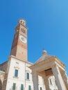 Lamberti Tower Tribune Verona Italy Royalty Free Stock Photo