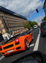 Lambo on the street Stock Image