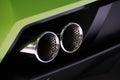 Lamborghini car exhaust pipe Royalty Free Stock Photo