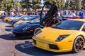 Lamborghini on exhibition parking at an annual event supercar su los angeles california usa abril sunday day abril in Stock Photos