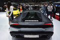 Lamborghini huracan at the geneva motor show on display during switzerland march Stock Images