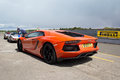 Lamborghini sports car s flagship model the aventador unveiled in Royalty Free Stock Images
