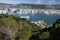 Lambton Harbour seen from Mount Victoria Royalty Free Stock Photo