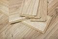 Laminate plates, imitating oak for flooring Royalty Free Stock Photo