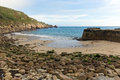 Lamorna cove cornwall england uk on the penwith peninsula beach and approximately four miles south of penzance Royalty Free Stock Image