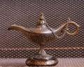 Lamp of aladdin beautiful oriental Stock Images