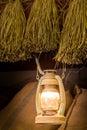 Lamp in barn Royalty Free Stock Photo
