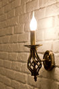 Lamp bracket wall candle style Stock Image