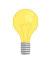 Lamp bulb icon. new idea isolated vector illustration. lightbulb energy Royalty Free Stock Photo