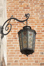 Lamp on cloth hall krakow poland europe Royalty Free Stock Image
