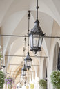 Lamp on cloth hall krakow poland europe Royalty Free Stock Images