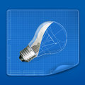 Lamp drawing blueprint Royalty Free Stock Photos