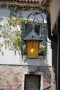 Lamp on European street Royalty Free Stock Photo