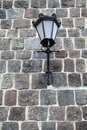 Lamp grunge stone wall background Stock Photo