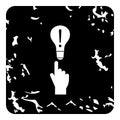 Lamp icon, grunge style
