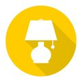 Lamp icon with long shadow
