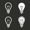 Lamp icons set.