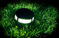 Lamp on lawn bround Royalty Free Stock Photography