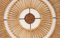 Lamp made of bamboo Royalty Free Stock Photo