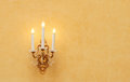 Lamp photography of an old baroque light Royalty Free Stock Image