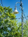 Lamp post with lights attach to it Royalty Free Stock Photo