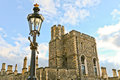 Lamp post in royal garden in windsor castle Royalty Free Stock Photography