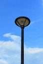 Lamp post street road over blue sky Royalty Free Stock Photo