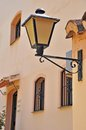 Lamp post vintage on a marbella street spain Royalty Free Stock Photo