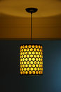 Lamp and shadow in hotel Royalty Free Stock Photography