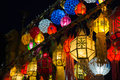 Lamp in thailand colorful night of loy krathong festival it beautiful Royalty Free Stock Photos