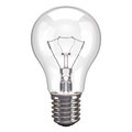 Lamp white background one bulb isolated on Royalty Free Stock Images
